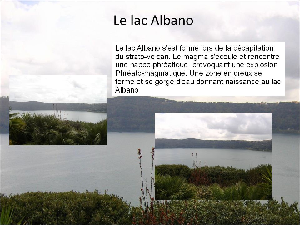 Le lac Albano
