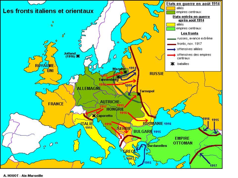 Les causes profondes Sept pays se trouvent engagés dans la guerre -Développement des sentiments nationalistes -la question de lAlsace-Lorraine -la riv