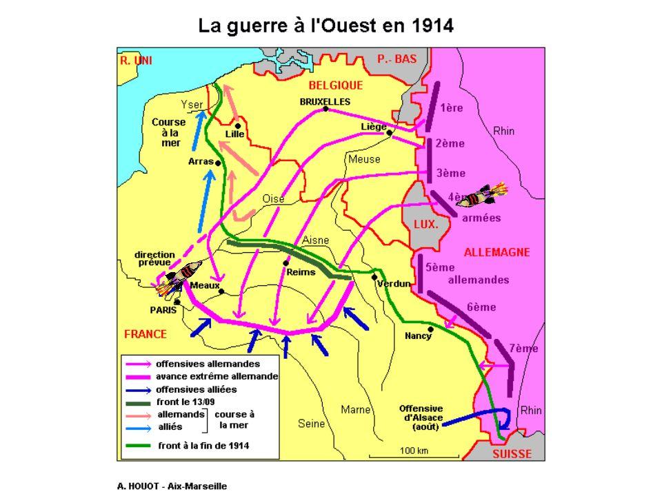 La course à la mer Les armées s'affrontent ensuite sur la Somme et dans le Nord lors des combats de la Course à la mer et de la mêlée des Flandres: le