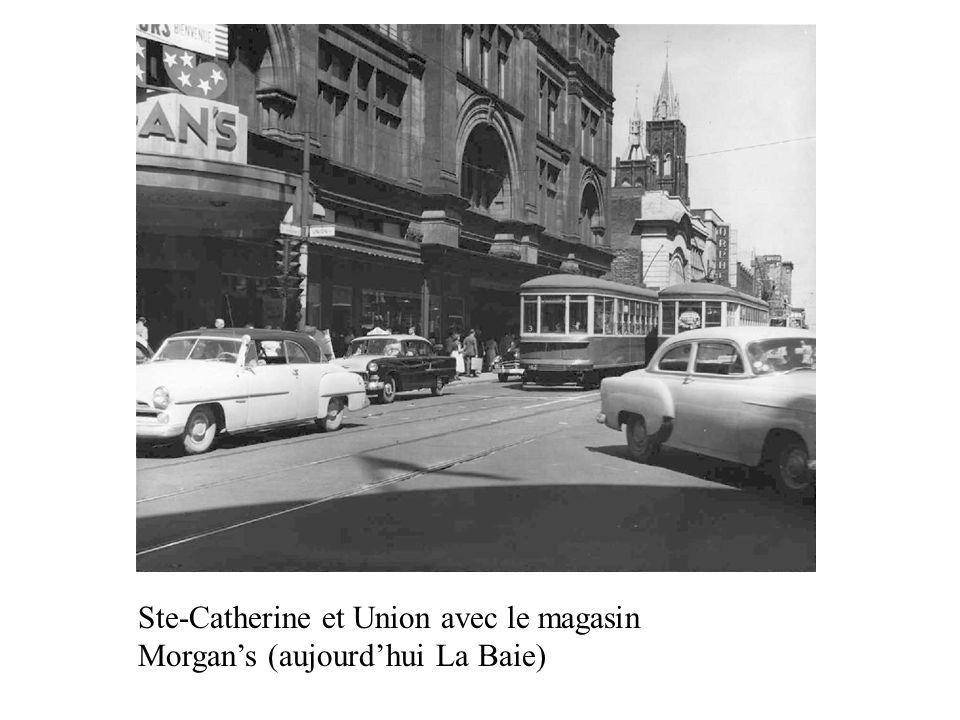 Ste-Catherine et Union avec le magasin Morgans (aujourdhui La Baie)