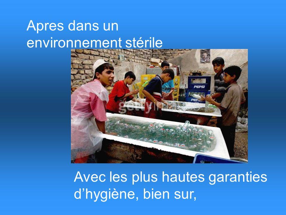 En premier on recupere les emballages vides… Recycler avant tout…!!