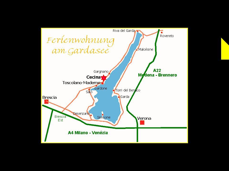 Sirmione est situé à lextrémité dune presquîle qui savance au sud du Lac de Garde