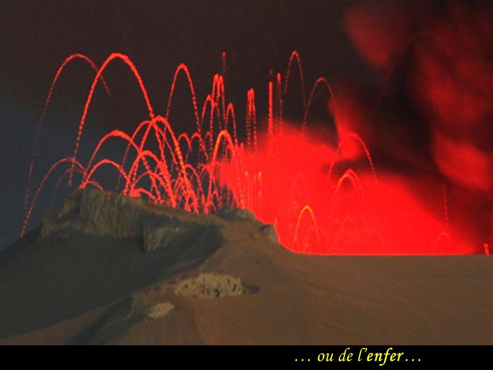Fascination du feu de la terre …
