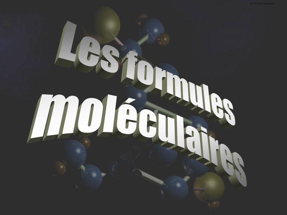 Les formules moléculaires
