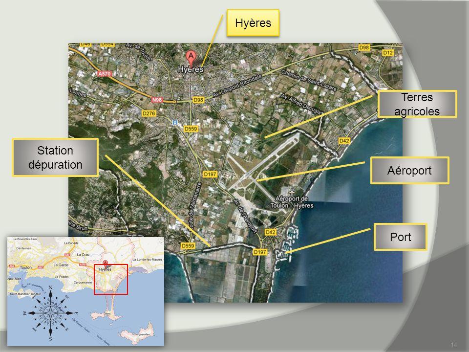 14 Hyères Aéroport Port Station dépuration Terres agricoles