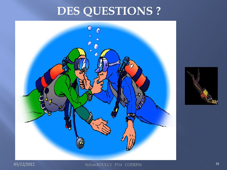 26 Plus de questions ? Alors… 05/12/2012 Sylvie BOULLY PN4 CODEP01