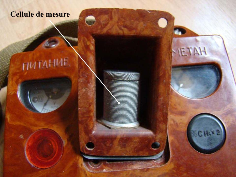 Tirette en position mesure Ch4> 2% Voyant rouge Allumé fixe Alarme sonore En route