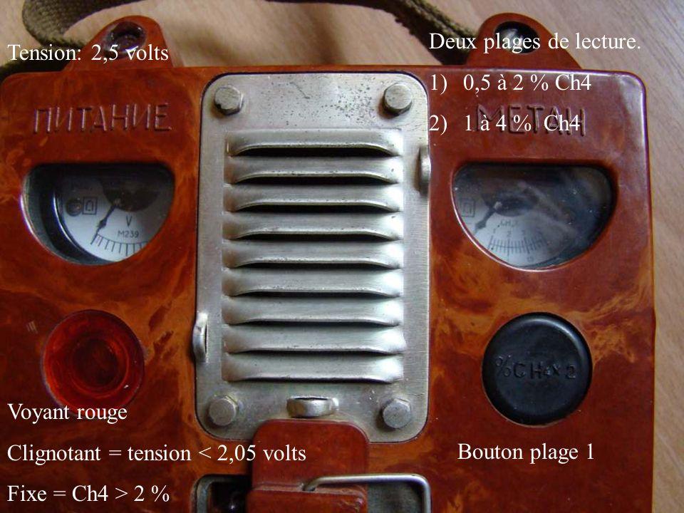 Tirette 3 positions 1)Arrêt 2)Charge 3)Mesure