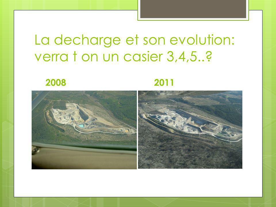 La decharge et son evolution: verra t on un casier 3,4,5..? 2008 2011