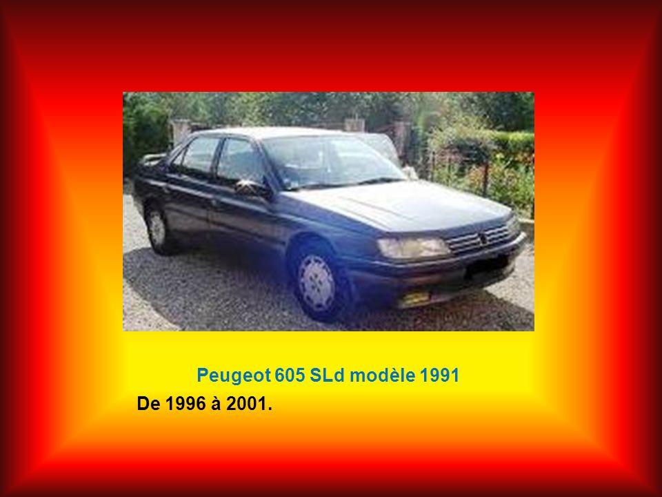Peugeot 605 SLd modèle 1991 De 1996 à 2001.