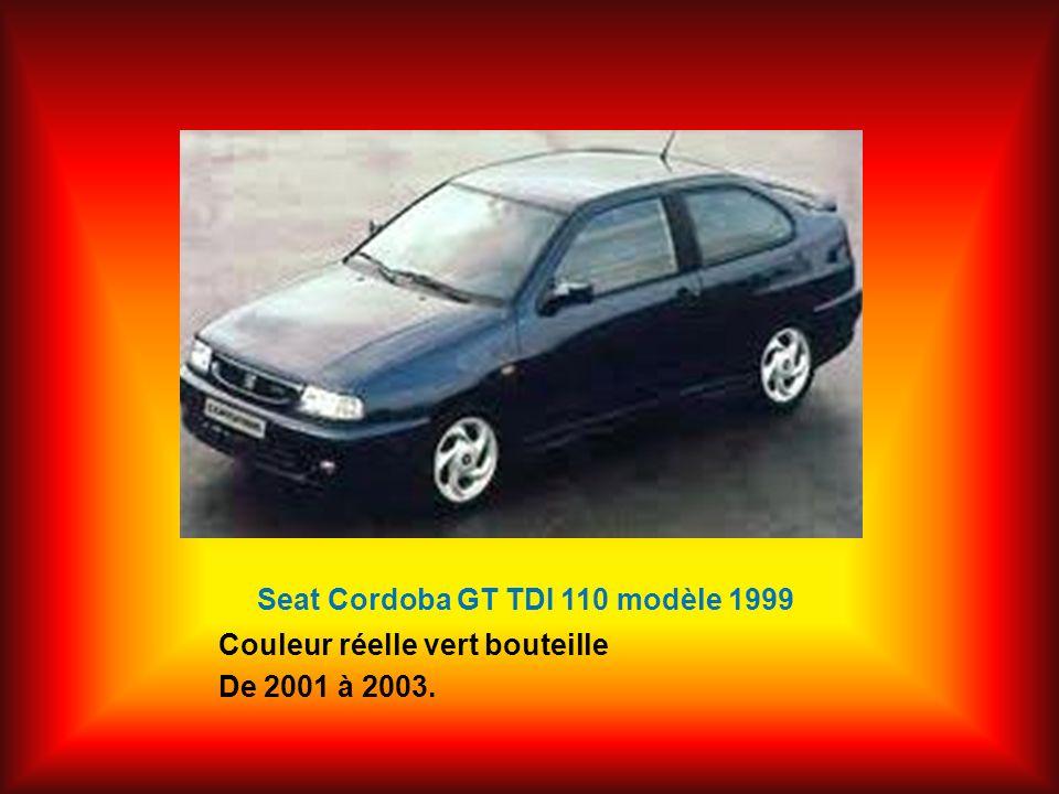 Seat Cordoba GT TDI 110 modèle 1999 Couleur réelle vert bouteille De 2001 à 2003.