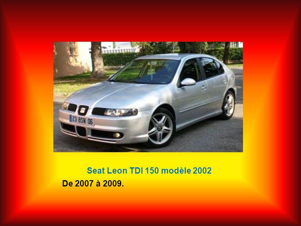 Seat Leon TDI 150 modèle 2002 De 2007 à 2009.