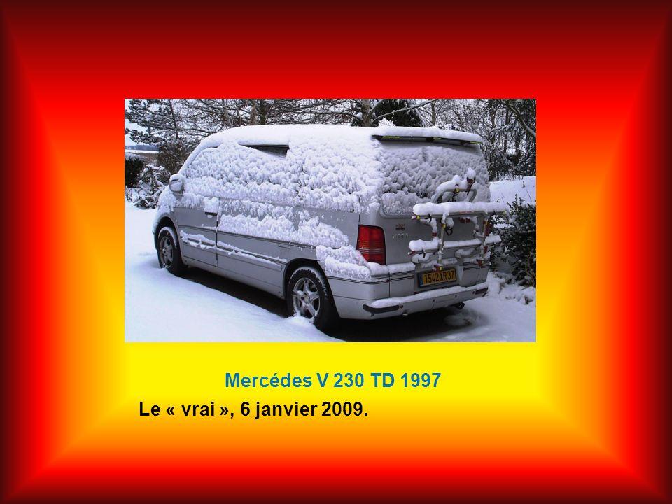 Mercédes V 230 TD 1997 Le « vrai », 6 janvier 2009.
