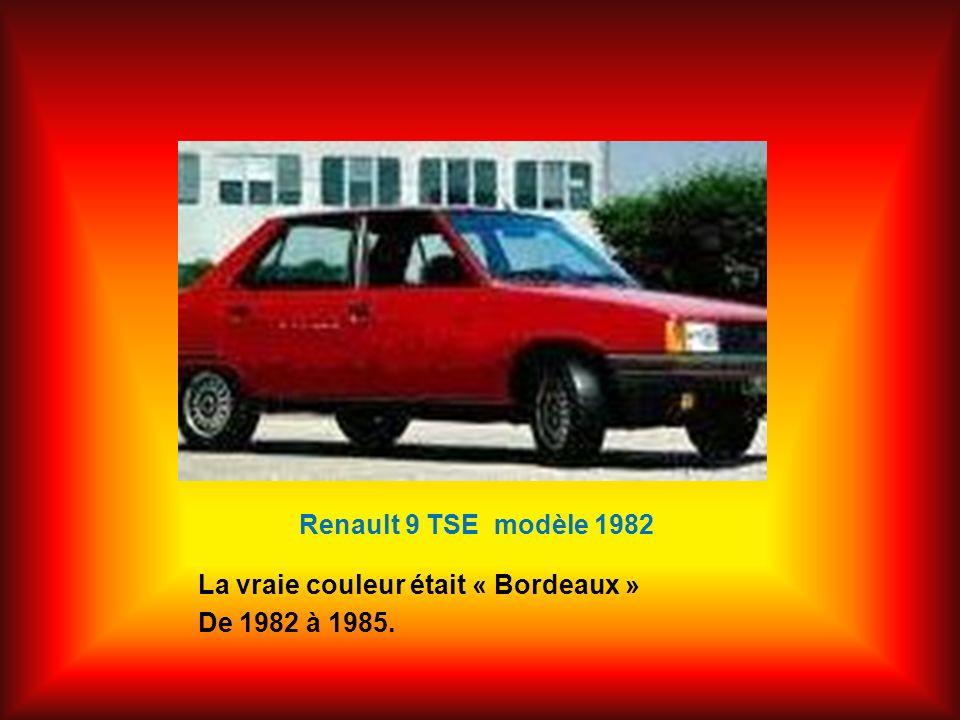 Renault 9 TSE modèle 1982 La vraie couleur était « Bordeaux » De 1982 à 1985.