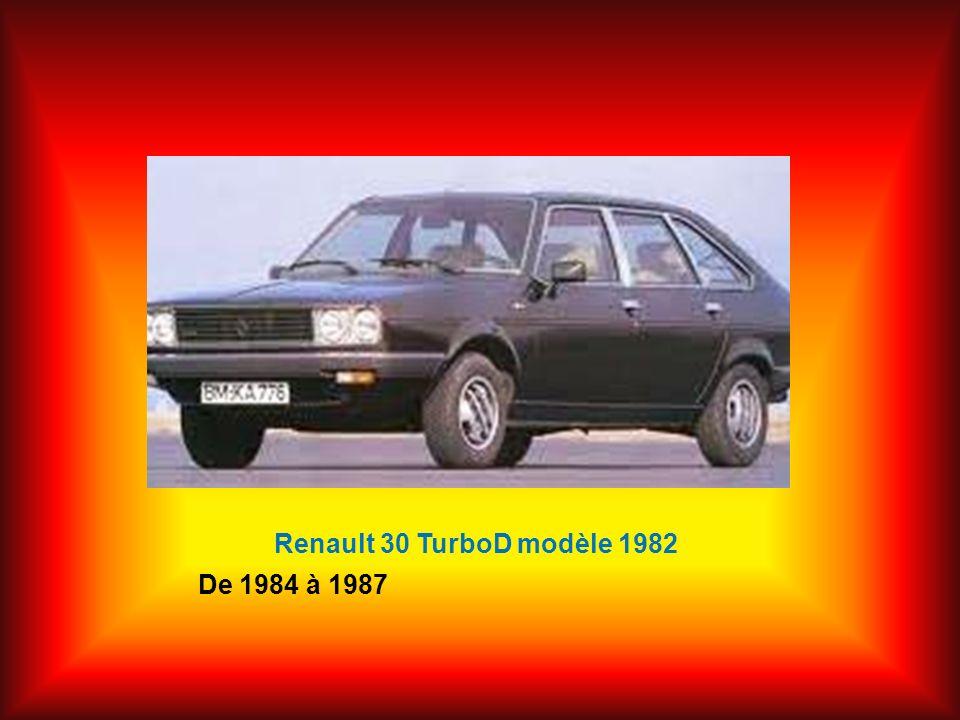 Renault 30 TurboD modèle 1982 De 1984 à 1987