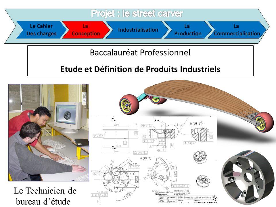 Le Cahier Des charges La Conception Industrialisation La Production La Commercialisation Le Technicien de bureau détude Baccalauréat Professionnel Etu
