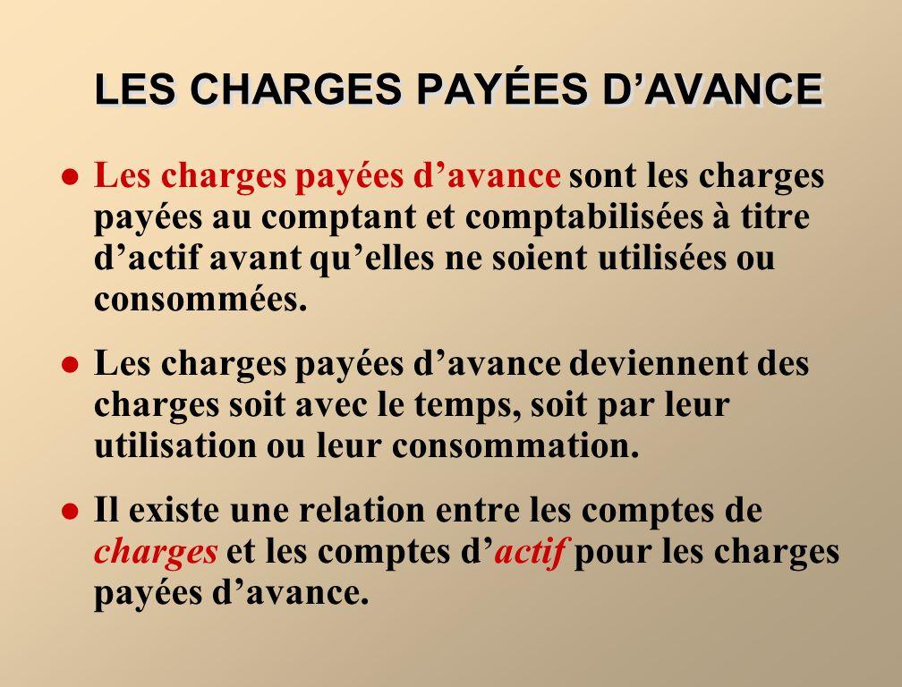 LES SOMMES PAYÉES OU REÇUES DAVANCE Les sommes payées et reçues davance sont soit des charges payées davance, soit des produits perçus davance.