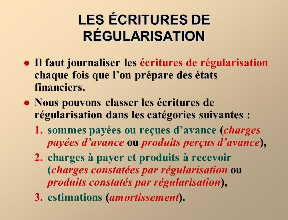 FIGURE 3-3 LA BALANCE DE VÉRIFICATION On analyse la balance de vérification pour déterminer sil faut ou non passer des écritures de régularisation.