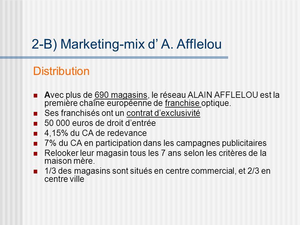 Distribution Avec plus de 690 magasins, le réseau ALAIN AFFLELOU est la première chaîne européenne de franchise optique.