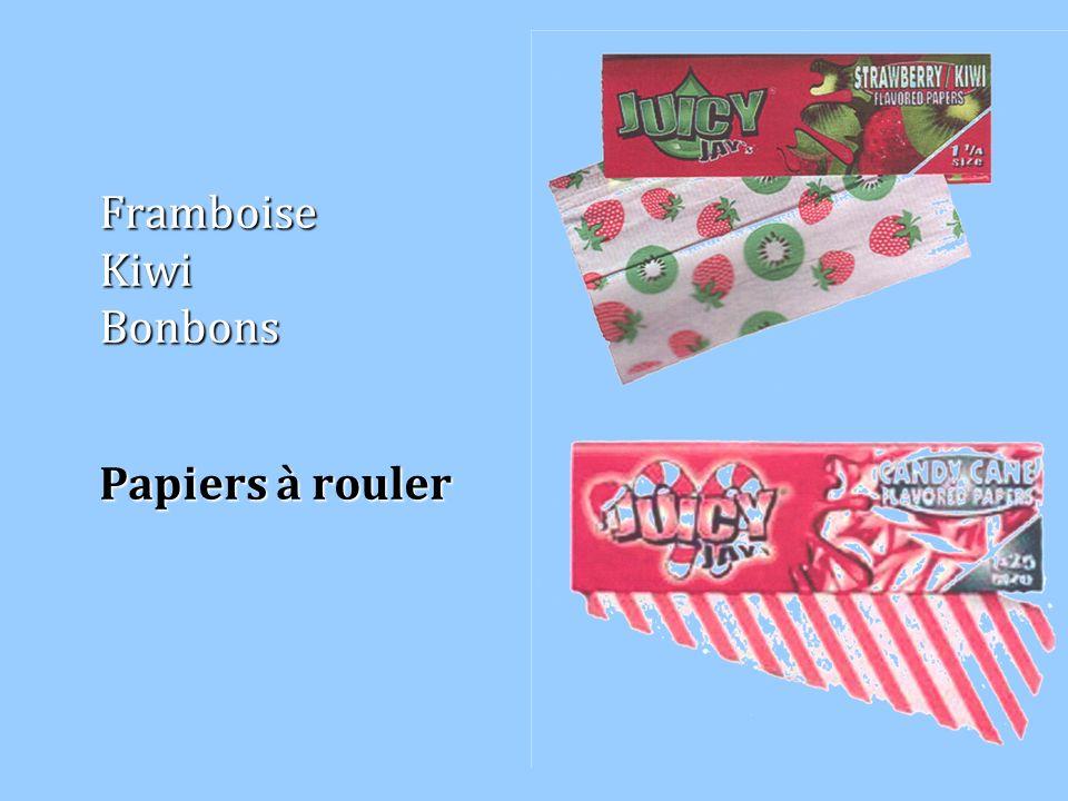 Framboise Kiwi Bonbons Papiers à rouler