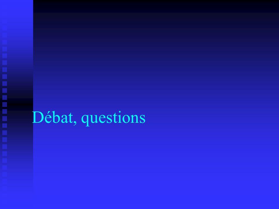 Débat, questions