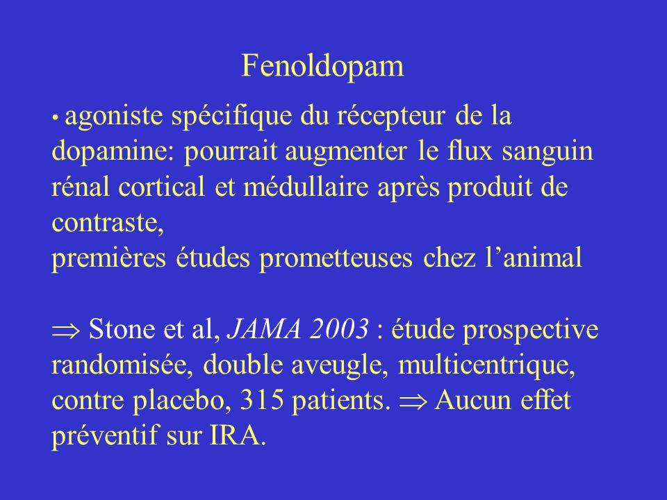 Fenoldopam agoniste spécifique du récepteur de la dopamine: pourrait augmenter le flux sanguin rénal cortical et médullaire après produit de contraste
