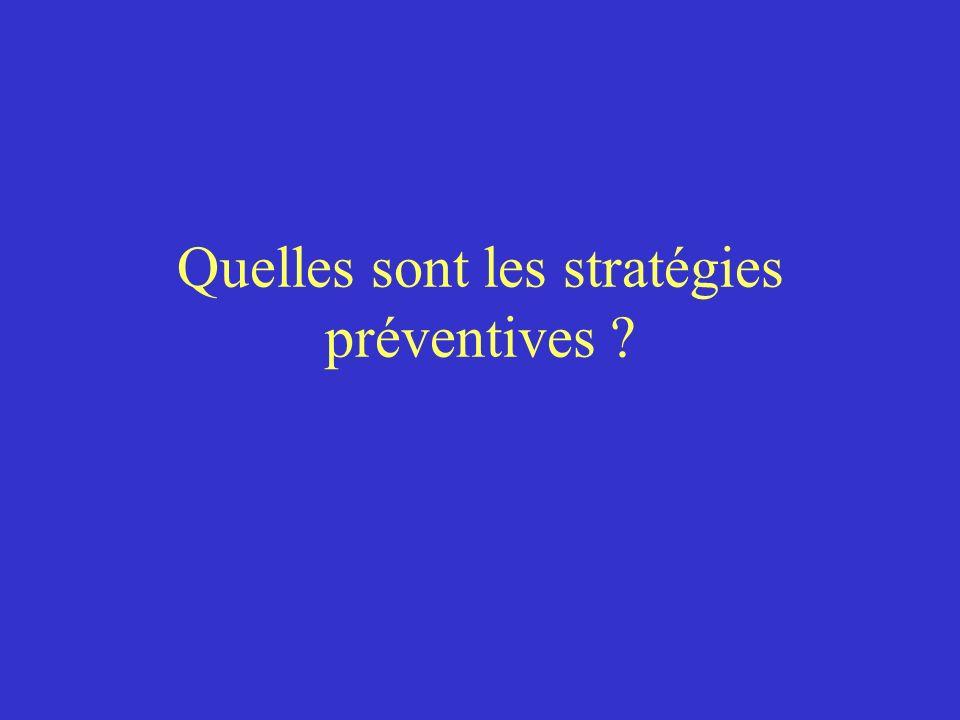 Quelles sont les stratégies préventives ?