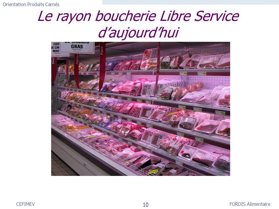 FORDIS Alimentaire Orientation Produits Carnés 10 CEFIMEV Le rayon boucherie Libre Service daujourdhui
