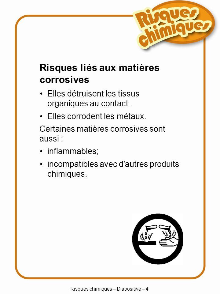 Risques chimiques – Diapositive – 5 Échelle de pH