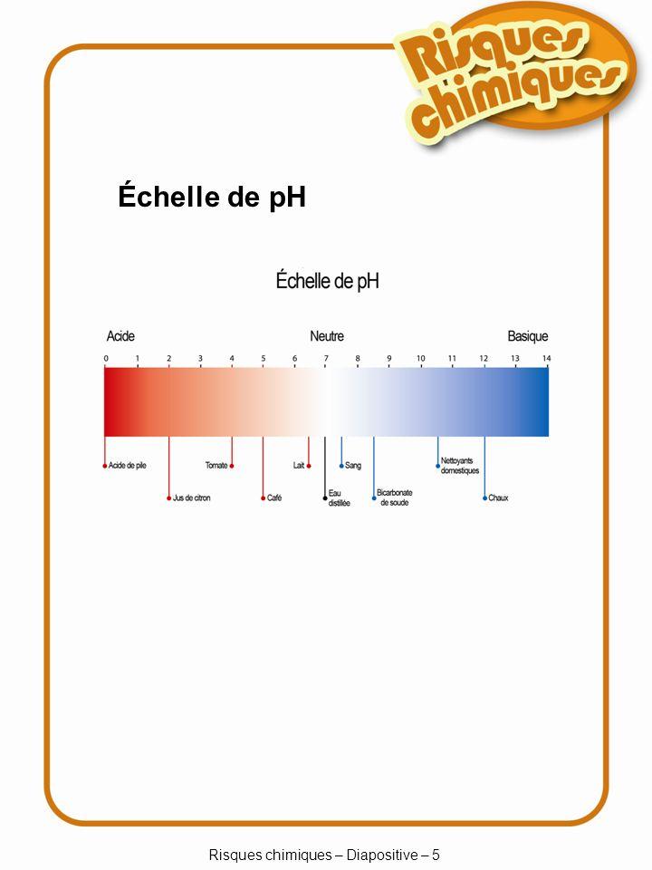 Risques chimiques – Diapositive – 6 Produits toxiques et toxines La toxicité est une mesure de la capacité d empoisonnement d un produit chimique.