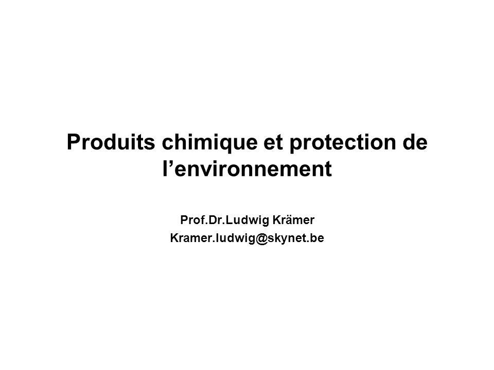 Evolution de la législation(1) 1.1967 Directive sur la classfication, létiquetage et lemballage des substances dangereuses 1976 US Toxic Substances Act.