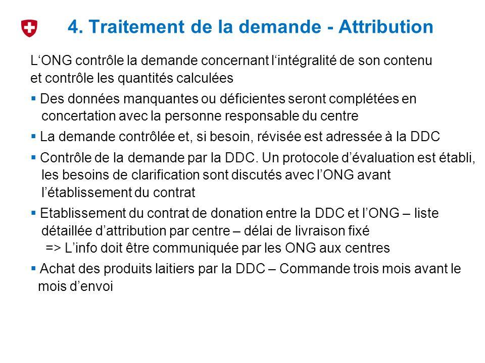 Afin déconomiser des frais, les attributions de produits laitiers à différentes ONG travaillant dans un même pays doivent faire lobjet dun envoi groupé si possible.