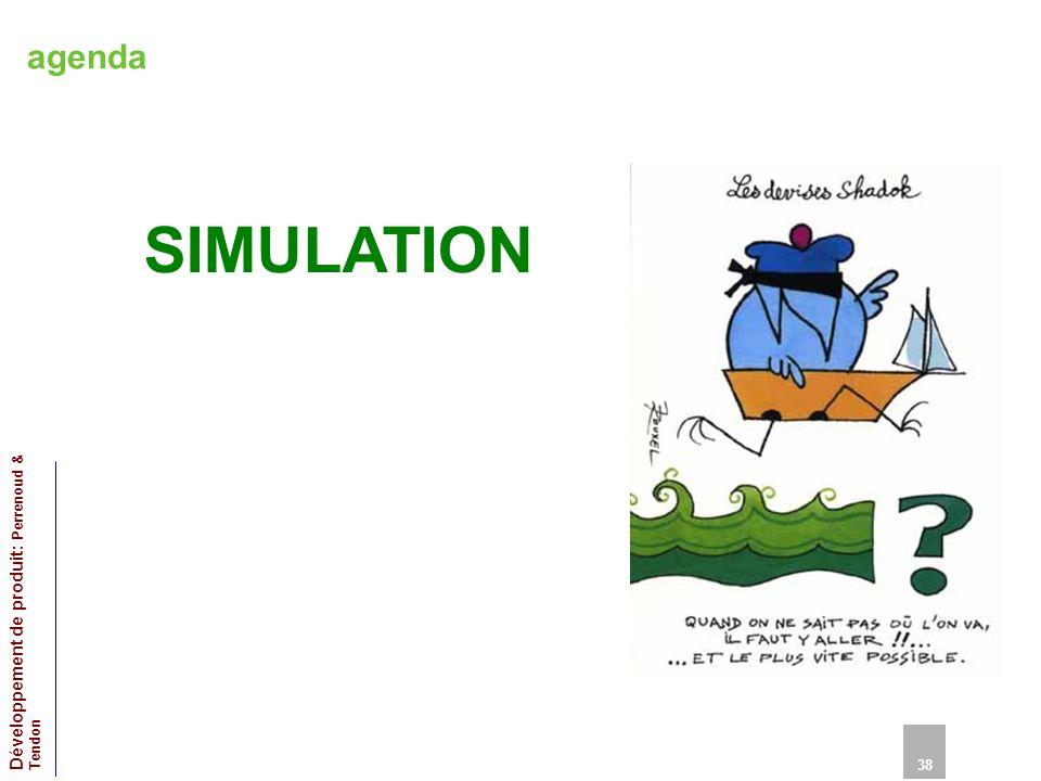 agenda SIMULATION 38 Développement de produit: Perrenoud & Tendon