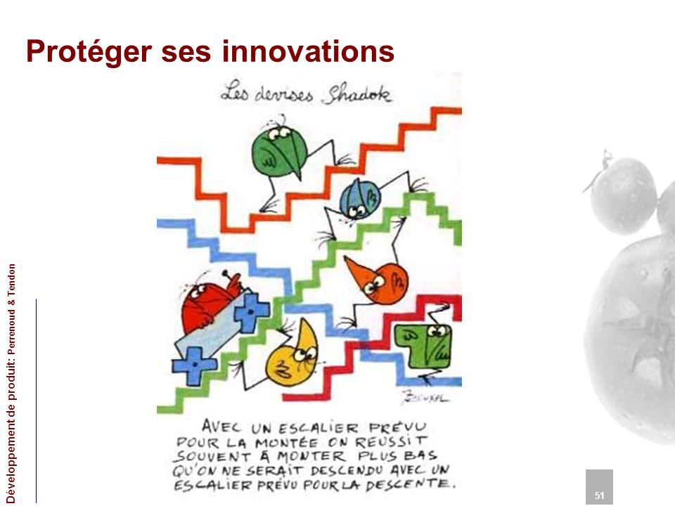 Protéger ses innovations 51 Développement de produit: Perrenoud & Tendon