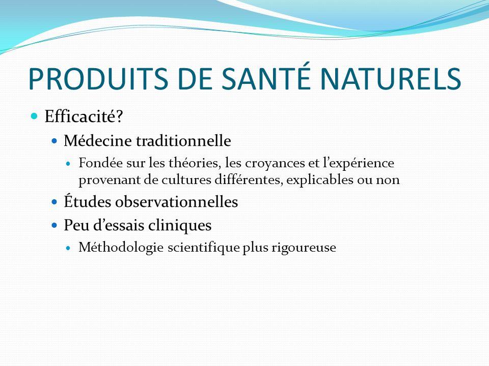 PRODUITS DE SANTÉ NATURELS Efficacité.
