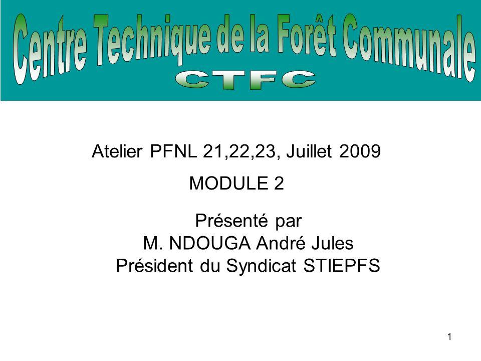 1 Atelier PFNL 21,22,23, Juillet 2009 MODULE 2 Présenté par M.