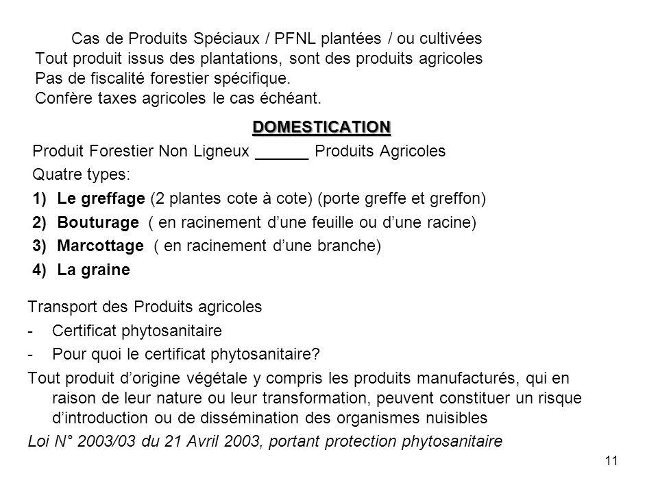 10 EXPLOITATION DES FORÊTS COMMUNALES Article 79 du décret 95/531 du 23 Août / 1995 1- En régie 2- Vente des coupe 3- Permis dexploitation 4- Autorisation personnelle (II)-Chaque Commune définit les modalités dattribution des titres dexploitation de ses forêts (III)-Les ventes de coupe ou le permis dexploitation prévus au (1) ci-dessus ne peuvent être attribuées quaux personnes agrées à lexploitation (IV)-Lexploitation des Forêts Communales est réservée en priorité aux personnes physiques de nationalité Camerounaise ou aux société ou celles-ci de tiennent la totalité du capital social ou des droits de vote Article 80 (2) Lexploitation dune forêt Communale ne peut intervenir quaprès signature et notification du titre d exploitation par le Maire de la Commune concernée.