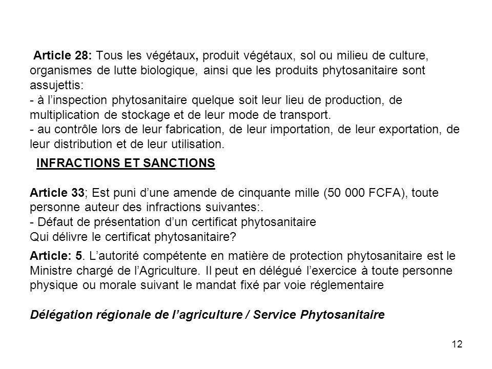 11 Cas de Produits Spéciaux / PFNL plantées / ou cultivées Tout produit issus des plantations, sont des produits agricoles Pas de fiscalité forestier spécifique.