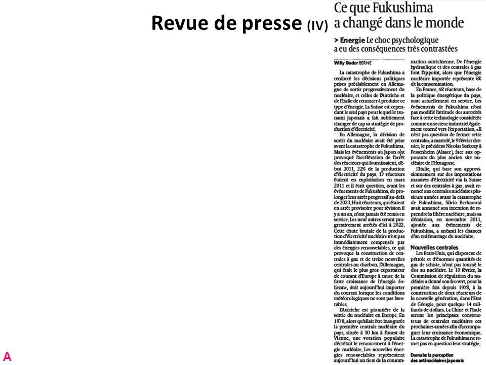 Revue de presse (V) A