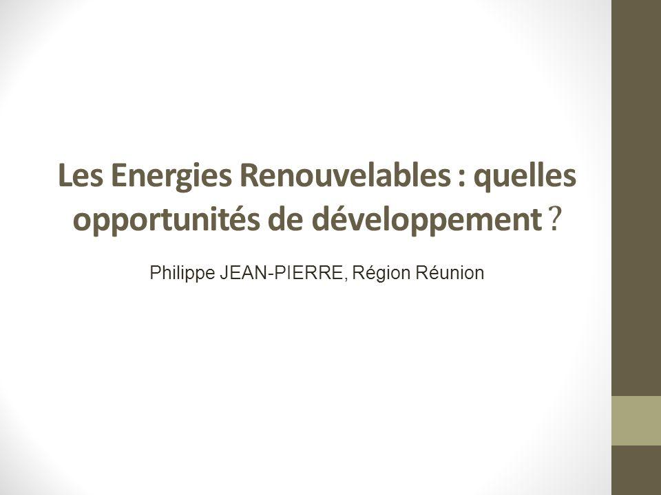 Les Energies Renouvelables : quelles opportunités de développement .