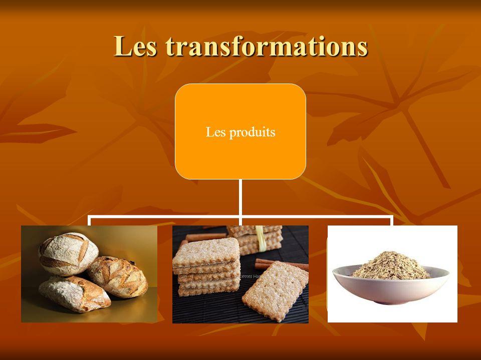 Les transformations Les produits