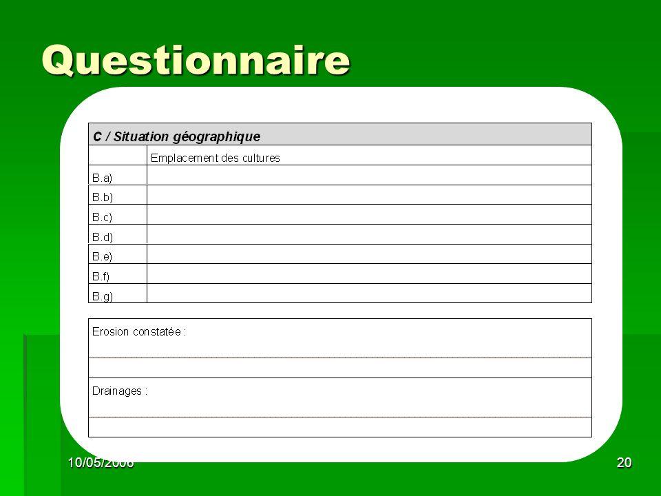 10/05/200620 Questionnaire