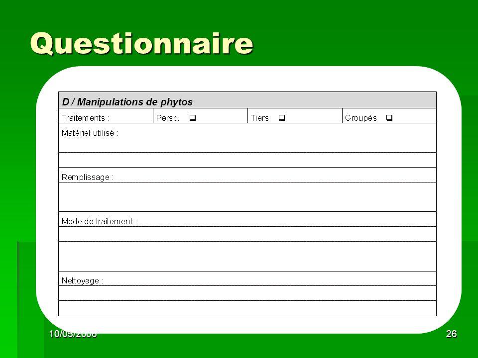 10/05/200626 Questionnaire