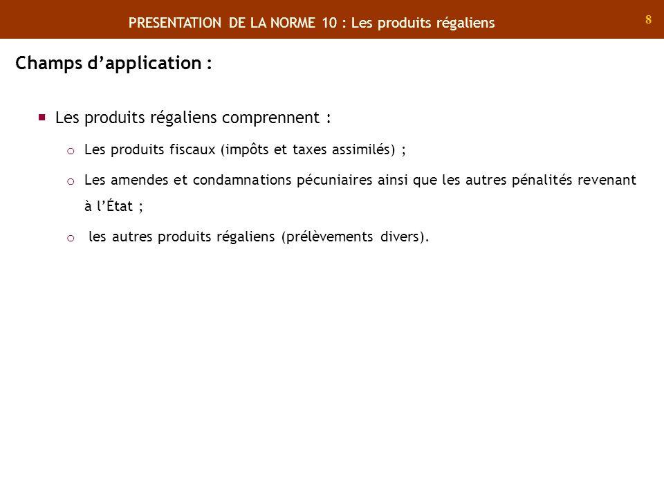 19 Définition : Il sagit des produits non liés à lexercice de la souveraineté générés par lactivité ordinaire de lEtat classés en : Produits de fonctionnement ; Produits de transfert ; Produits financiers.