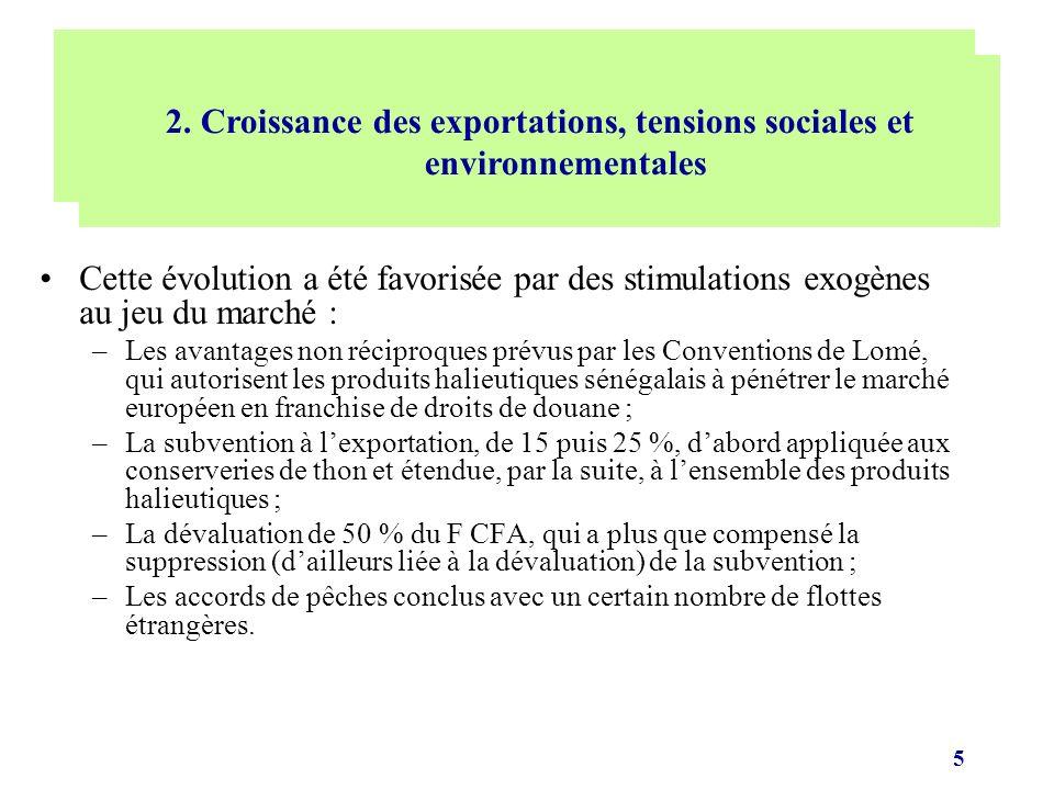 5 Cette évolution a été favorisée par des stimulations exogènes au jeu du marché : –Les avantages non réciproques prévus par les Conventions de Lomé,