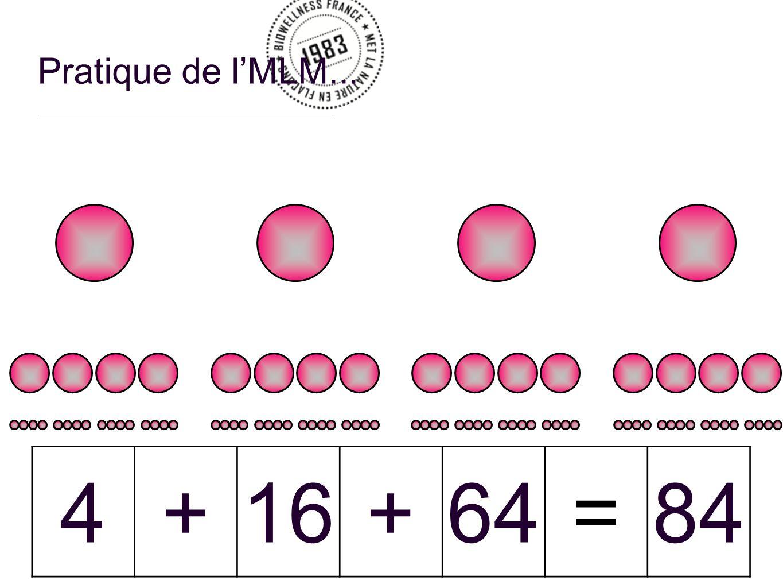 Pratique de lMLM... 4+16+64=84