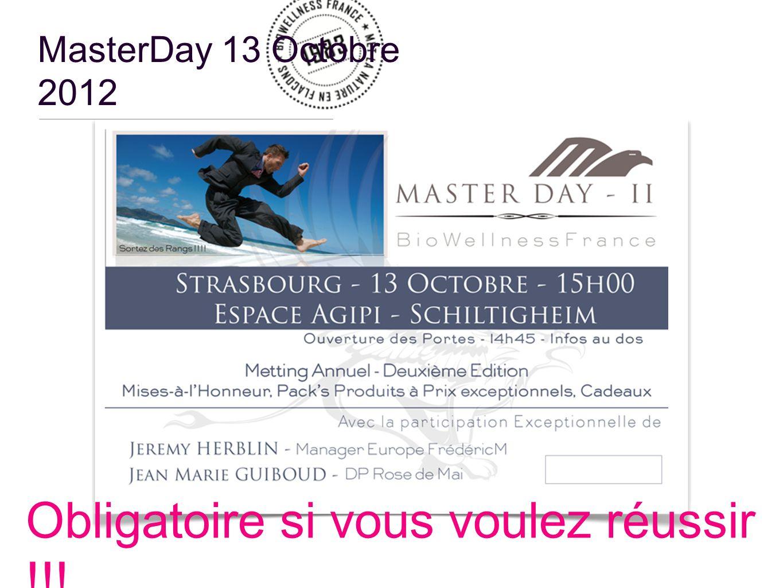 MasterDay 13 Octobre 2012 Obligatoire si vous voulez réussir !!!