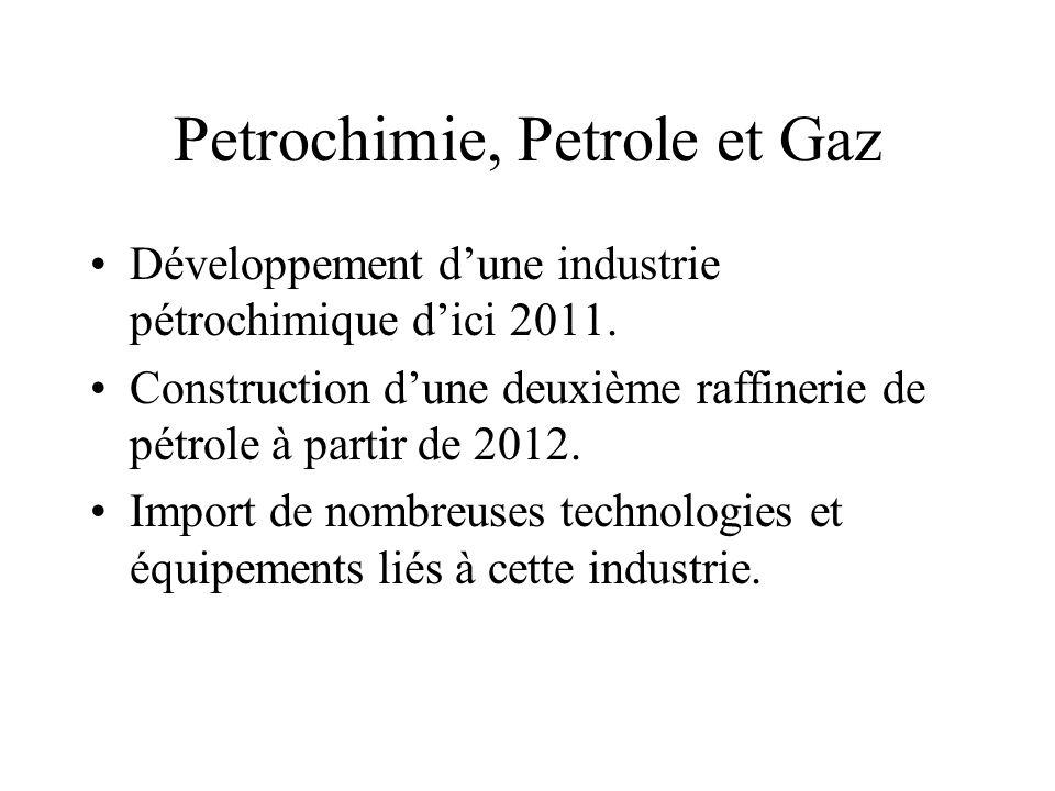 Petrochimie, Petrole et Gaz Développement dune industrie pétrochimique dici 2011.
