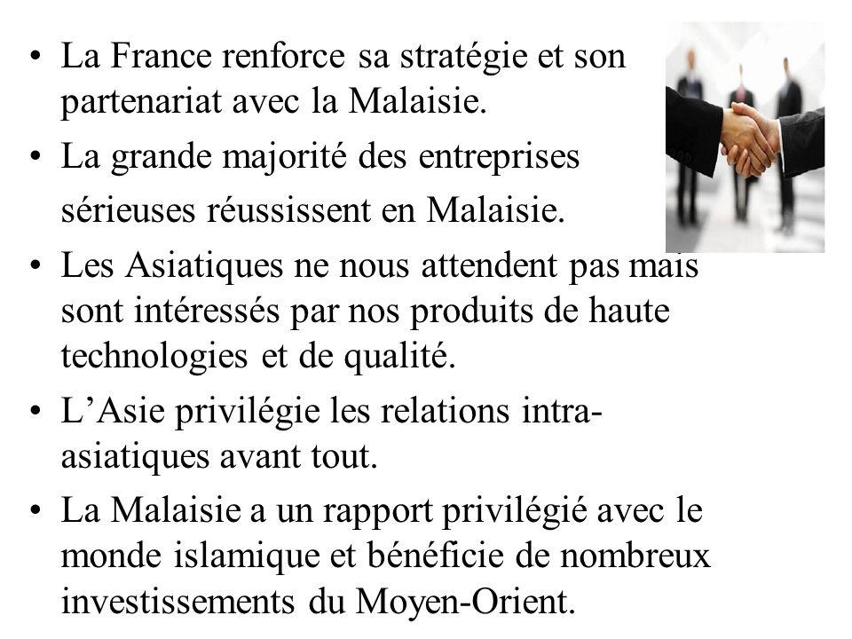 La France renforce sa stratégie et son partenariat avec la Malaisie.