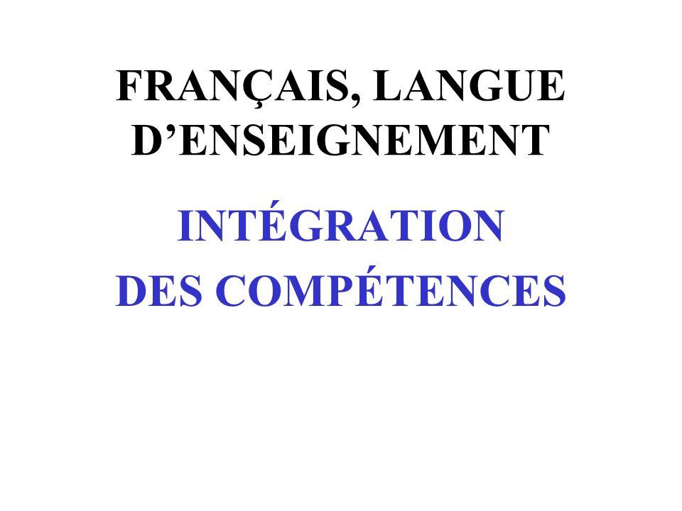 Compétence 1 Écrire des textes variés Lire des textes variés Communiquer oralement Démontrer son ouverture à lunivers culturel lié à la langue